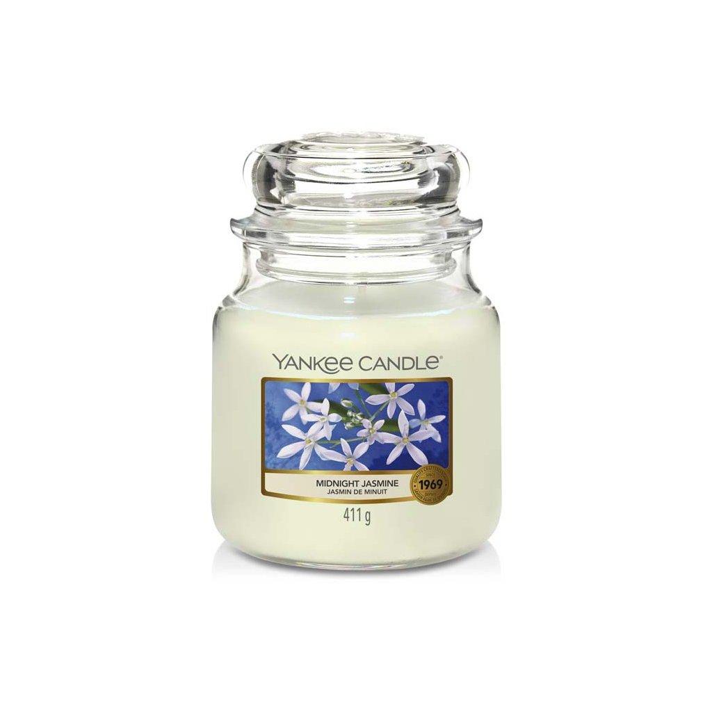Yankee Candle - vonná svíčka Midnight Jasmine (Půlnoční jasmín) 411g