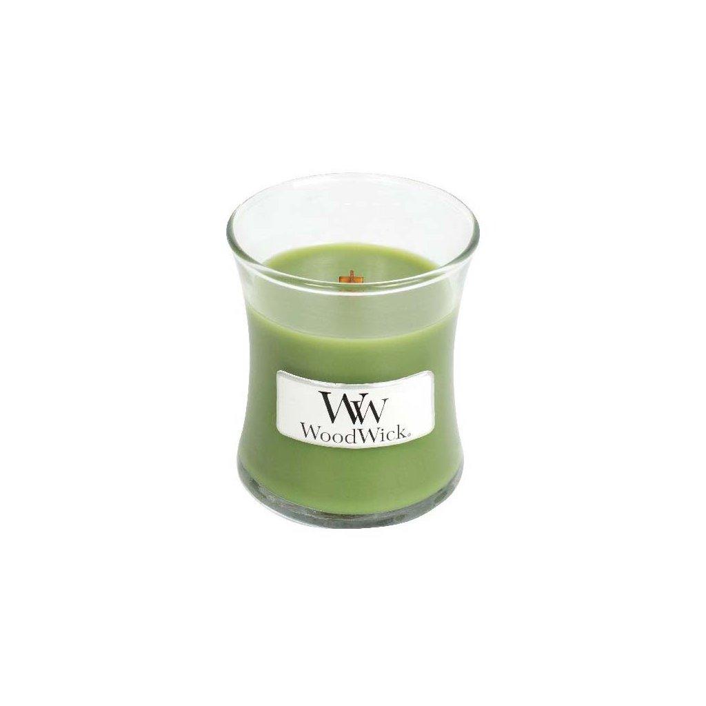 WoodWick - vonná svíčka Evergreen (Vůně jehličí) 85g