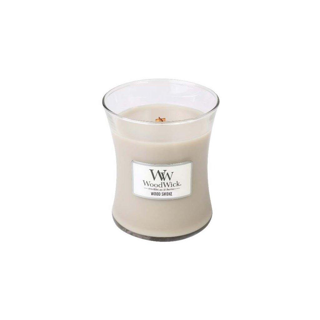 WoodWick - vonná svíčka Wood Smoke (Kouř a dřevo) 275g