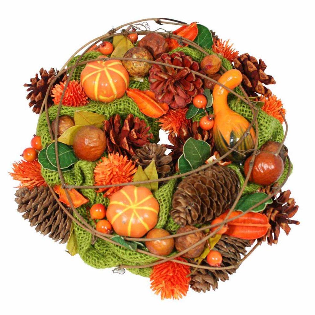 Věnec podzimní dekorační, 26 cm