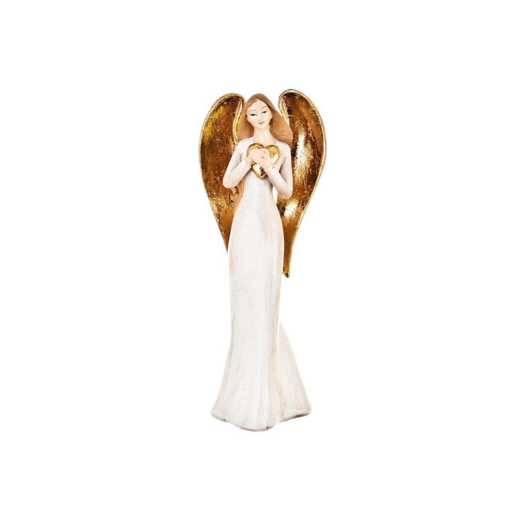 Anděl se srdcem, 19 cm
