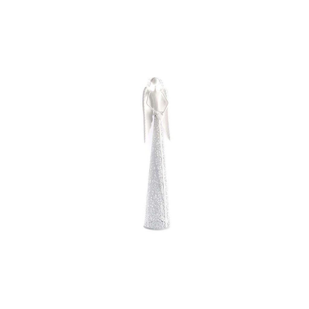 Casa de Engel - anděl se srdíčkem, bílý 55 cm