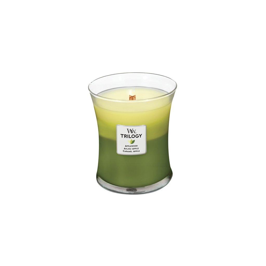 WoodWick - vonná svíčka Trilogy, Oslava jablek 275g