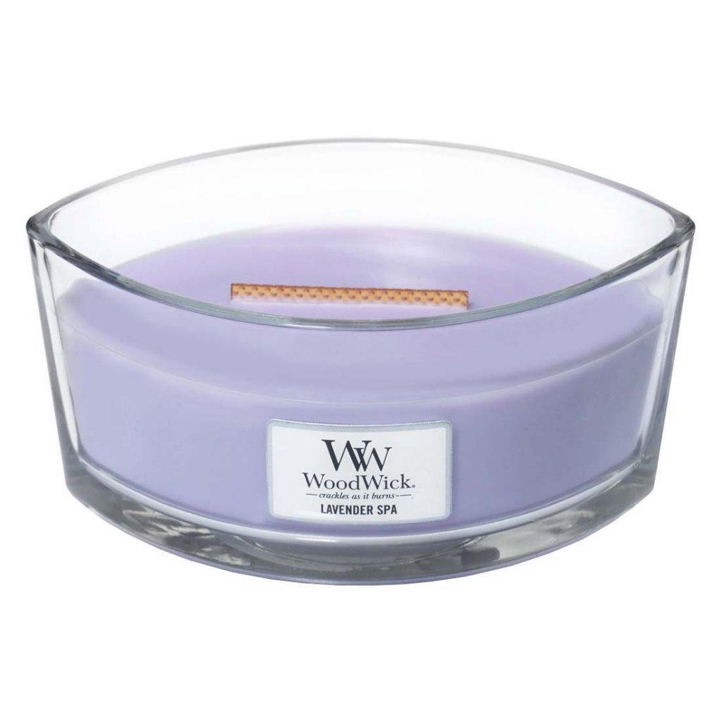 WoodWick - vonná svíčka Lavender Spa (Levandulová lázeň) 453g