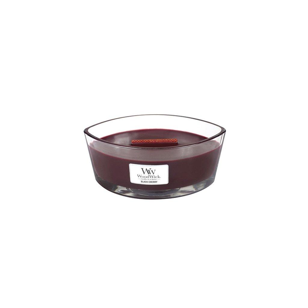 WoodWick - vonná svíčka Black Cherry (Černá třešeň) 453g
