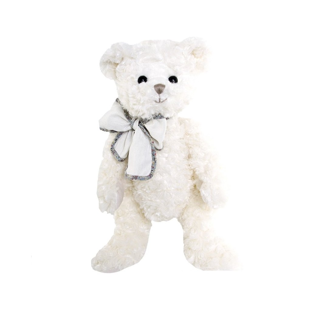 Bukowski - plyšový medvídek Beau Garcon Antoine s přírodní mašlí, 40 cm