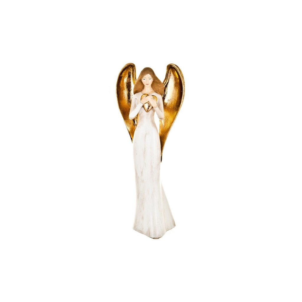 Anděl se srdcem, 32 cm