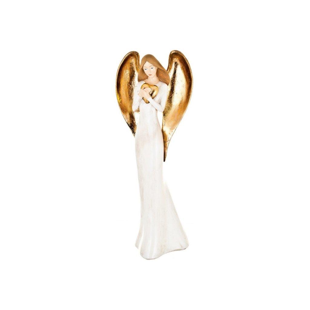 Anděl se srdcem, 42 cm
