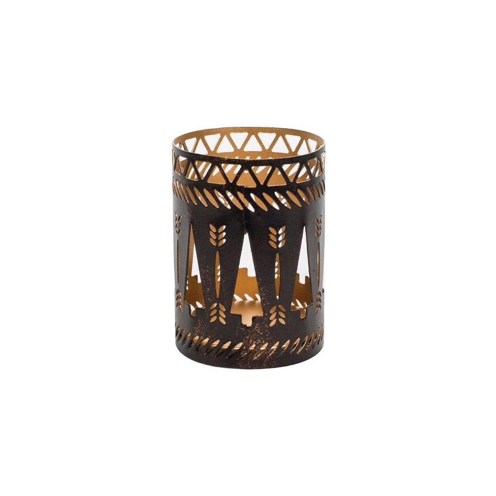 WoodWick - svícen Bronze Trees na Petite svíčku