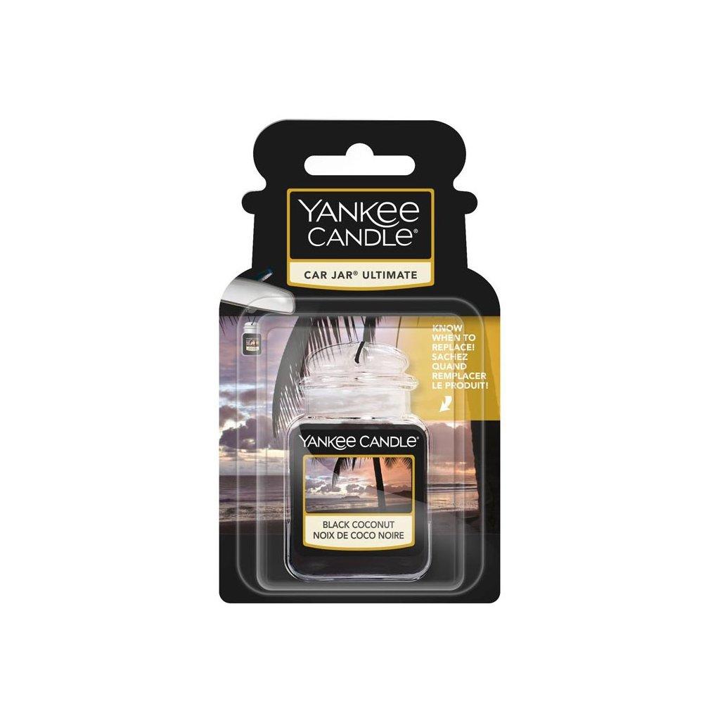 Yankee Candle - gelová visačka do auta Black Coconut (Černý kokos) 1 ks