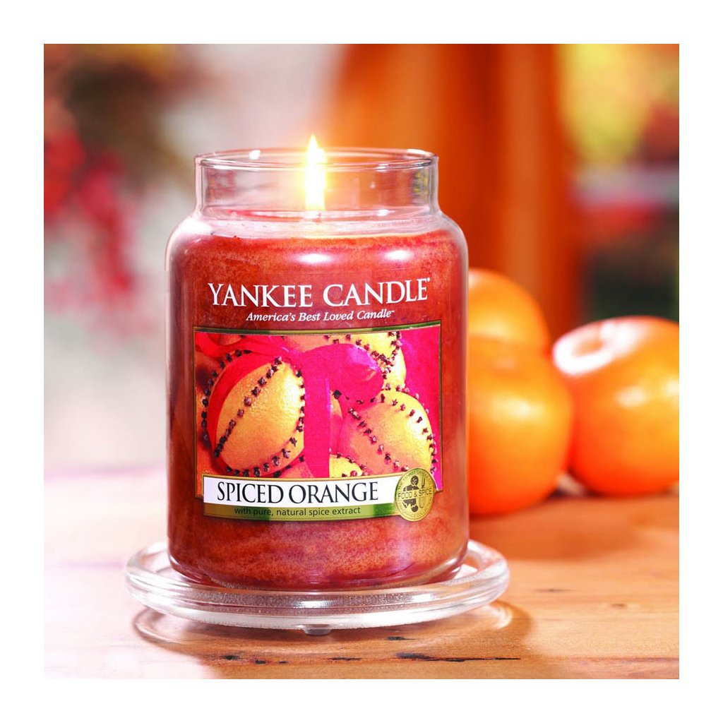 Yankee Candle - vonná svíčka Spiced Orange 623g