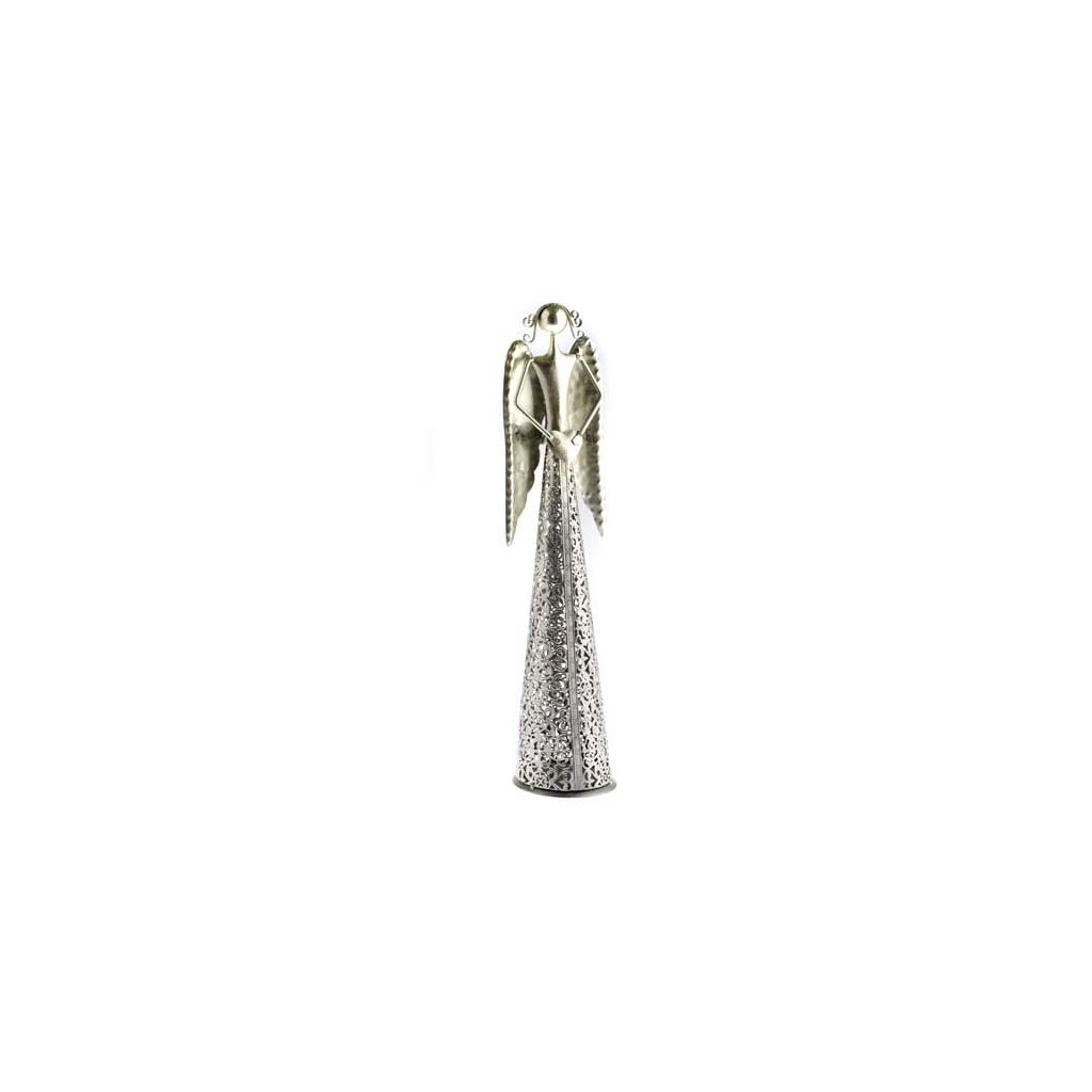 Casa de Engel - anděl se srdíčkem, stříbrný 39 cm