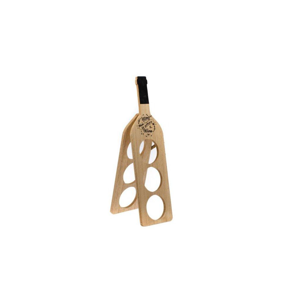 Casa de Engel - dřevěný stojan na víno na 3 lahve