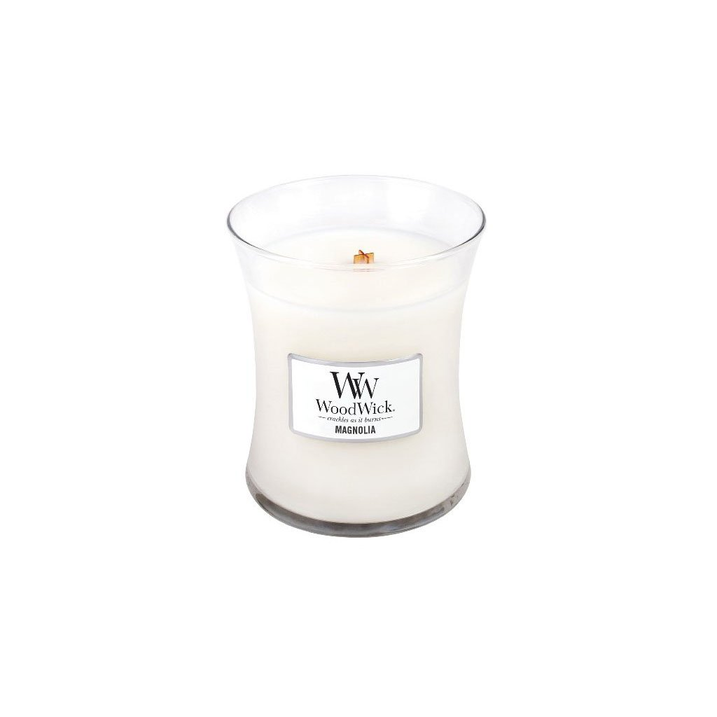 WoodWick - vonná svíčka Magnolia (Magnólie) 275g