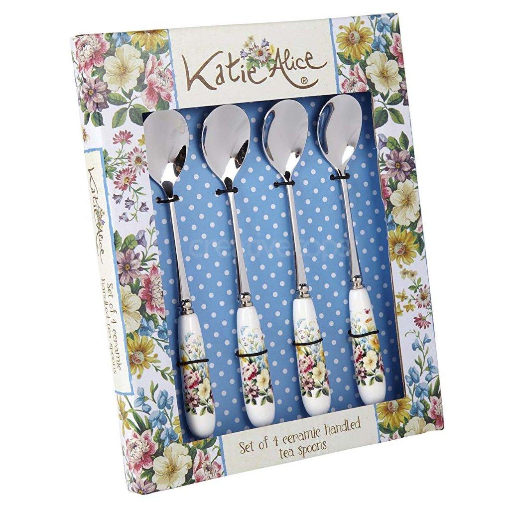 Katie Alice - lžičky na moučník English Garden 4 ks