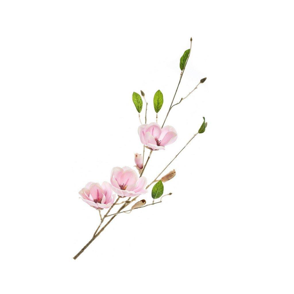 Umělá květina, větev růžová 1 ks