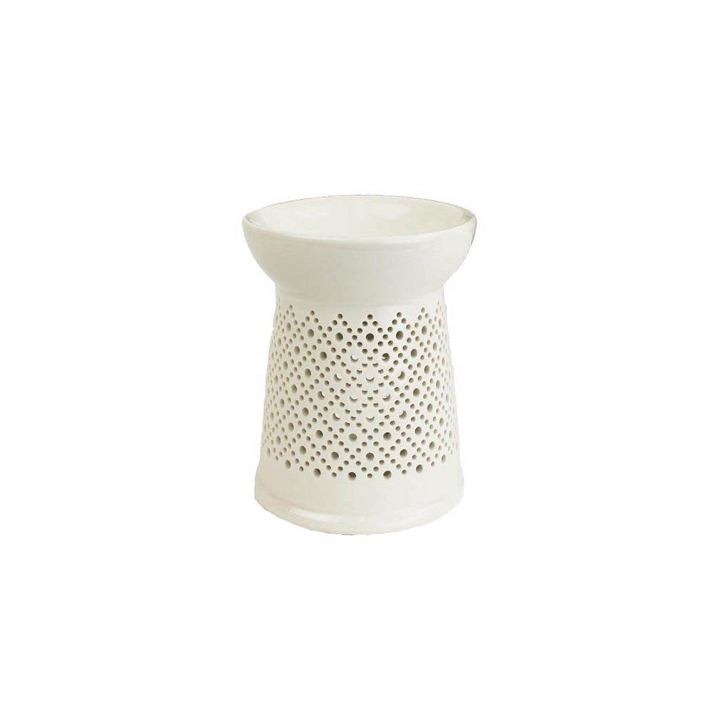 Aromalampa porcelánová, bílá