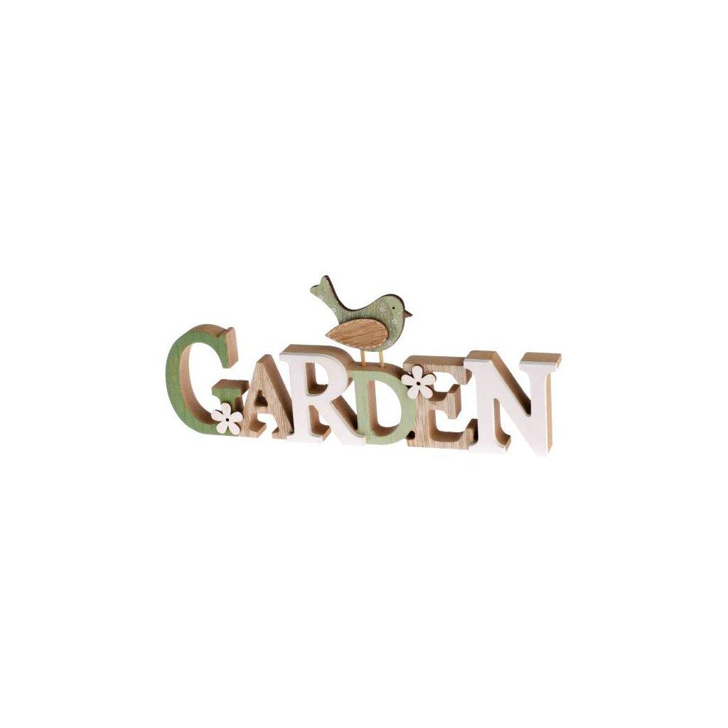 Casa de Engel - dřevěný nápis Garden