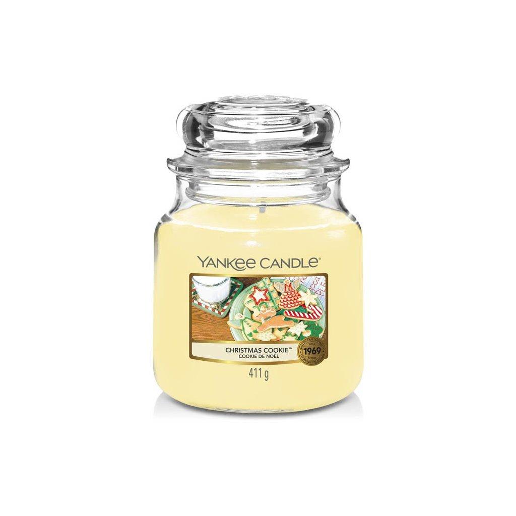 Yankee Candle - vonná svíčka Christmas Cookie (Vánoční cukroví) 411g