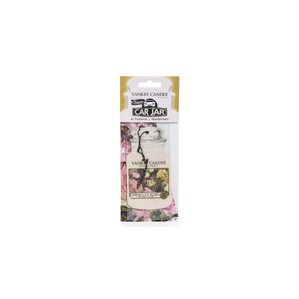 Yankee Candle - papírová visačka do auta Fresh Cut Roses 1 ks