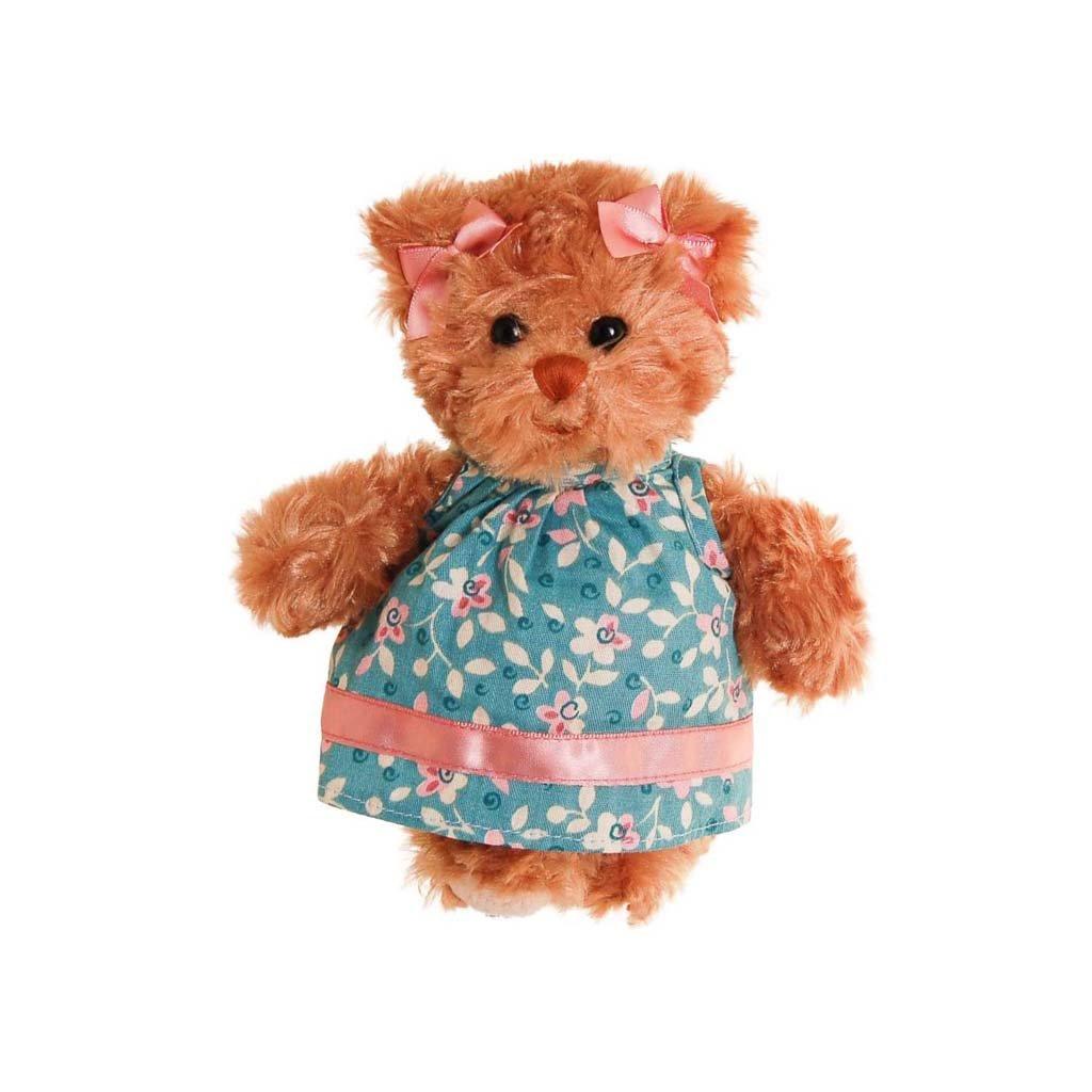 Bukowski - plyšový medvídek Little Hedvig modré šaty, 16 cm