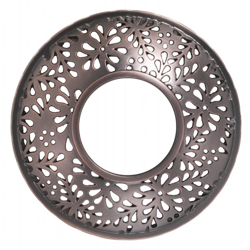 Yankee Candle - prstenec na svíčku Sheridan Floral Bronze Metal