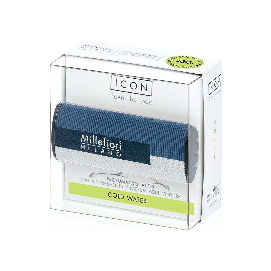 Millefiori Milano - ICON vůně do auta Cold Water, textilní potah Geometric 47g
