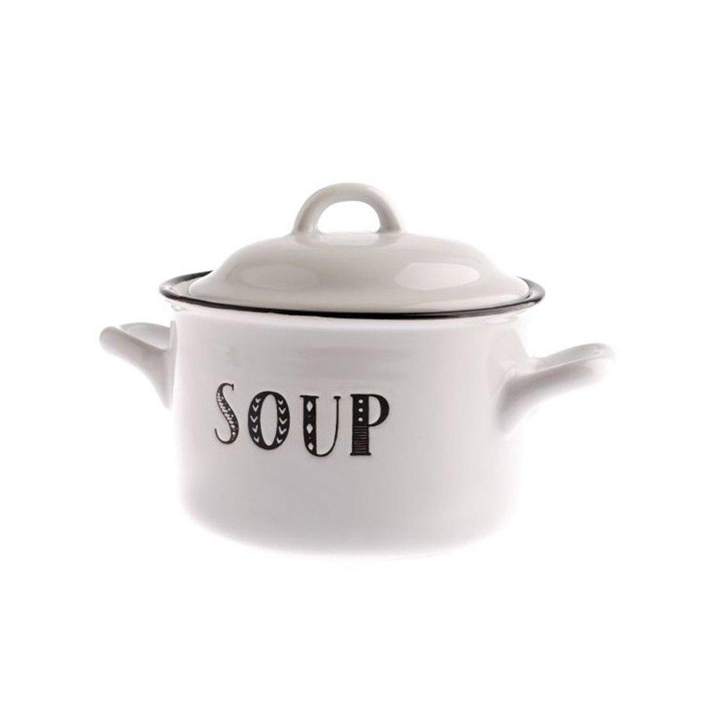 Casa de Engel - keramická miska na polévku s pokličkou, 920 ml