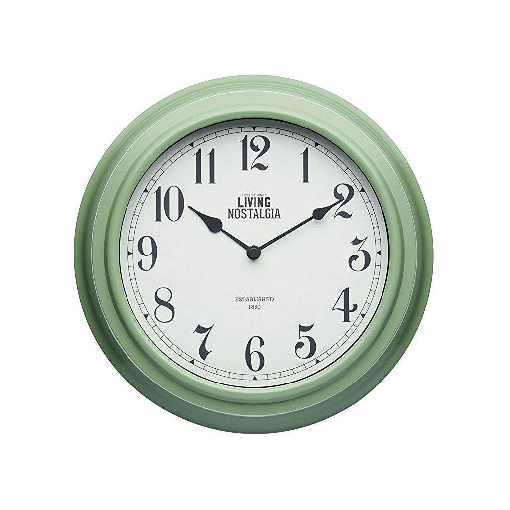 Kitchen Craft - hodiny Living Nostalgia, zelené 25 cm