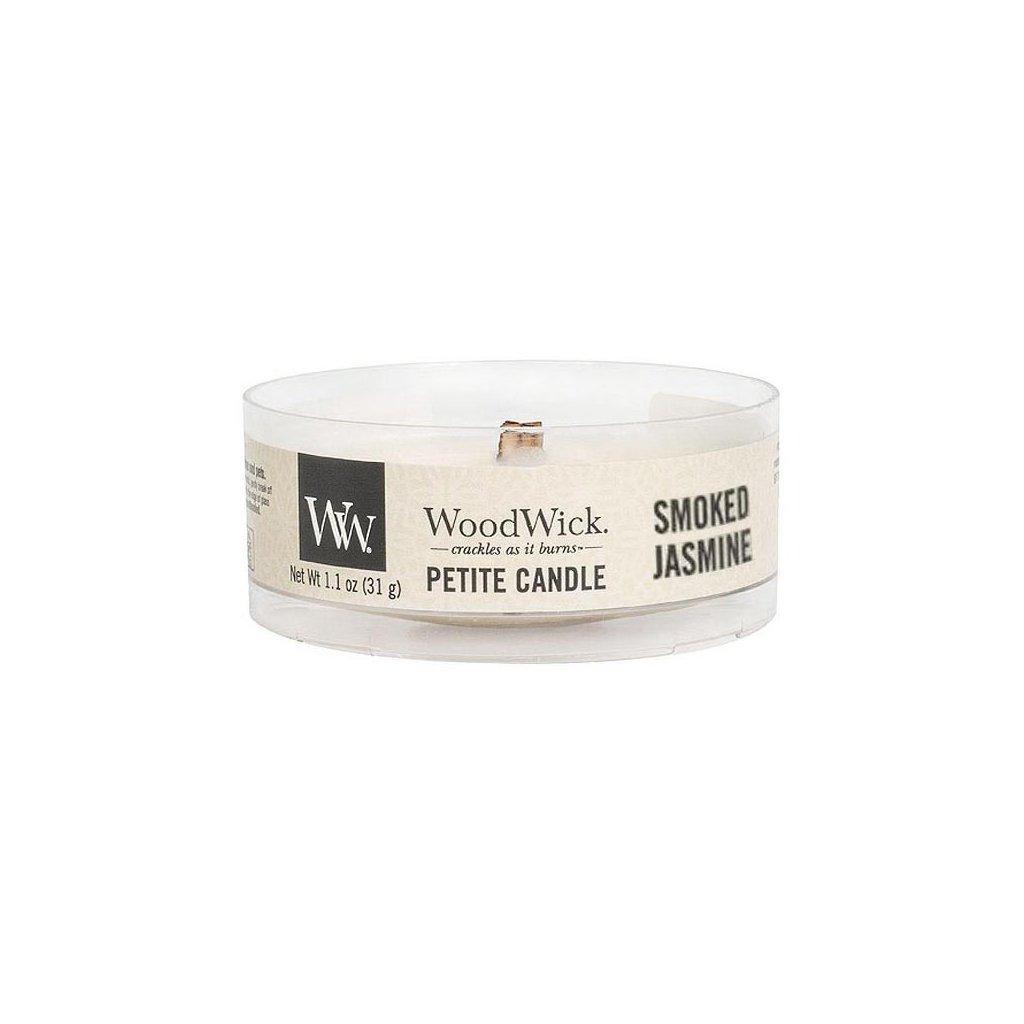 WoodWick - vonná svíčka Petite, Smoked Jasmine (Kouřový jasmín) 31g
