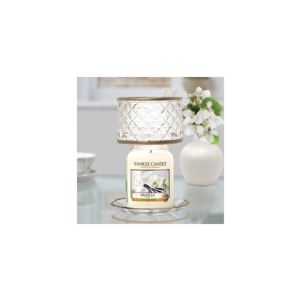 Yankee Candle - sada stínítka a talířku Langham, na velkou svíčku
