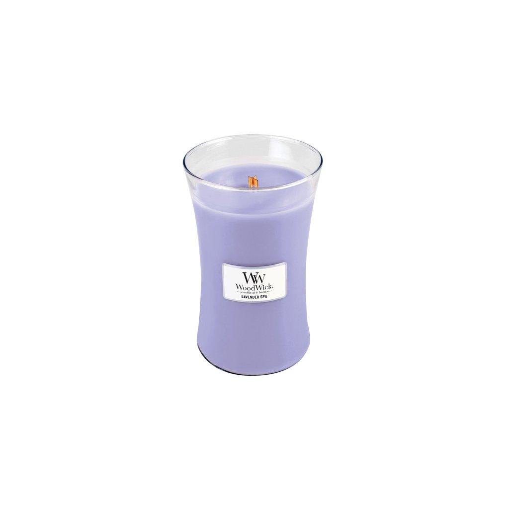 WoodWick - vonná svíčka Lavender Spa (Levandulová lázeň) 609g