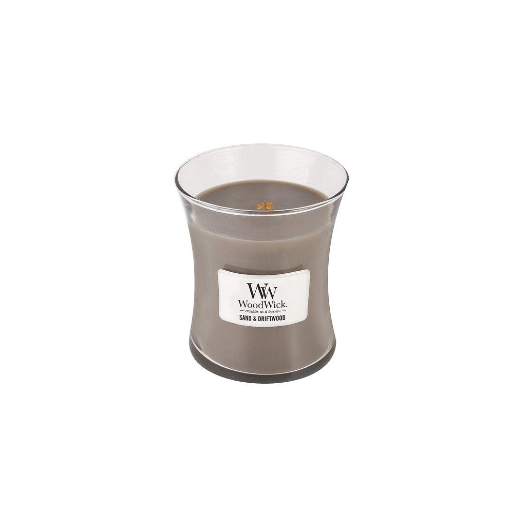 WoodWick - vonná svíčka Sand & Driftwood (Písek & naplavené dřevo) 275g