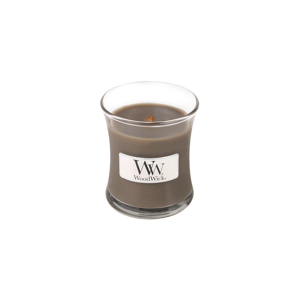 WoodWick - vonná svíčka Sand & Driftwood (Písek & naplavené dřevo) 85g