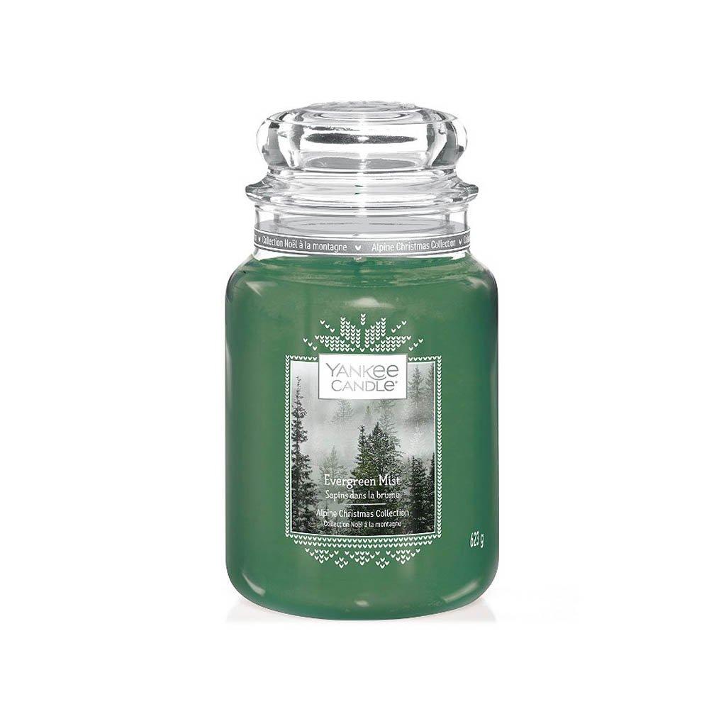 Yankee Candle - vonná svíčka Evergreen Mist (Lesní mlha) 623g