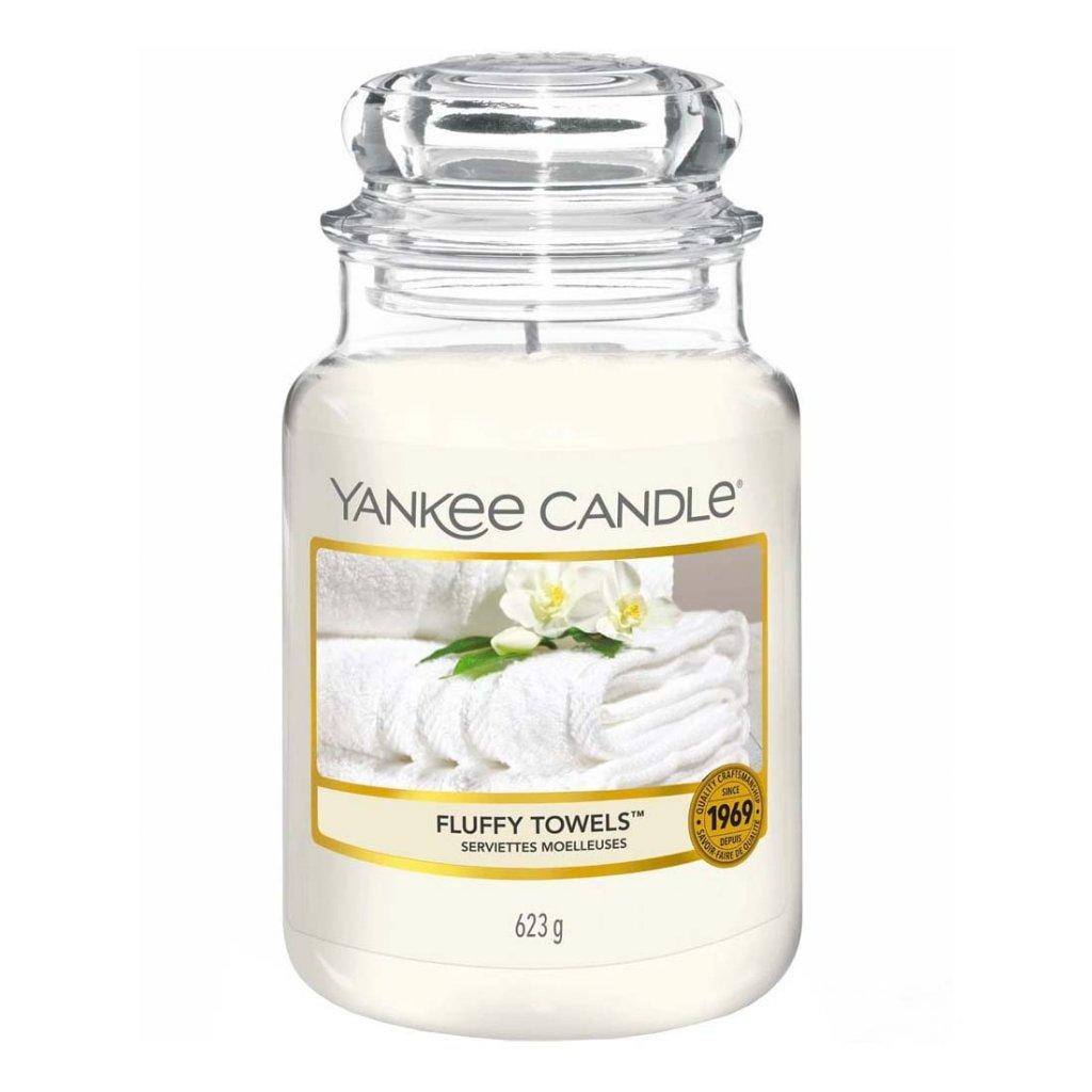 Yankee Candle - vonná svíčka Fluffy Towels 623g