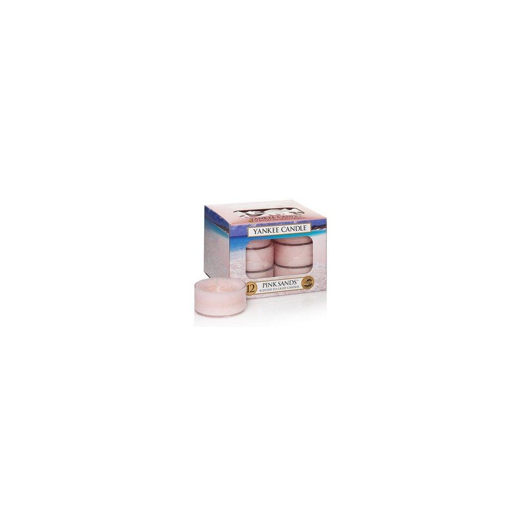 Yankee Candle - čajové svíčky Pink Sands (Růžové písky) 12 ks