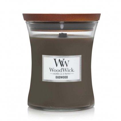 WoodWick - vonná svíčka Oudwood (Pryskyřice) 275g