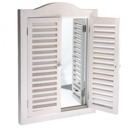 Casa de Engel - zrcadlo francouzské okno, dřevěné bílé