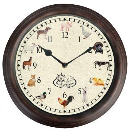 Esschert Design - hodiny se zvukem farmářských zvířátek  29