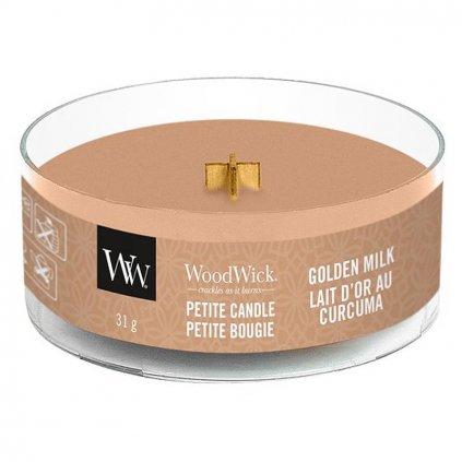 WoodWick - vonná svíčka Petite, Golden Milk (Zlaté mléko) 31g