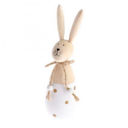 Velikonoční zajíček, dřevěná dekorace 15 cm