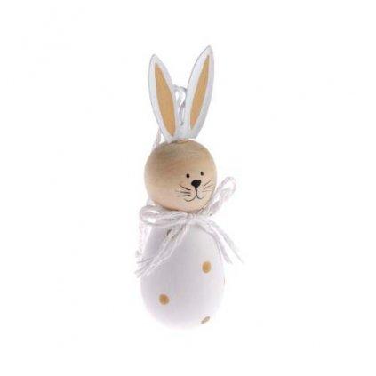 Velikonoční baby zajíček, dřevěná dekorace 10 cm