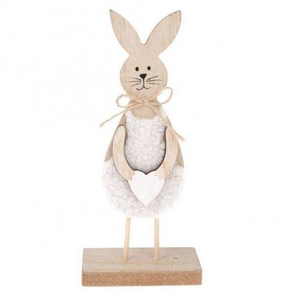 Velikonoční zajíček, dřevěná dekorace 20 cm