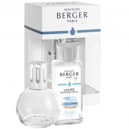Maison Berger Paris - katalytická lampa Bingo čirá + neutrální čisticí směs, dárkový set
