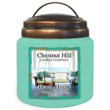 Chestnut Hill - vonná svíčka Beach House (Dům na pláži) 454g
