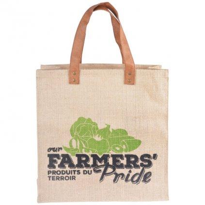 Esschert Design - jutová nákupní taška Farmers Pride