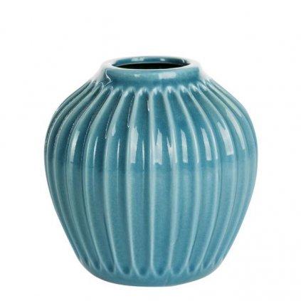 Le Herisson - váza keramická modro-zelená, 15x15 cm