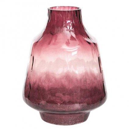 Le Herisson - váza skleněná vínová, 19x25 cm