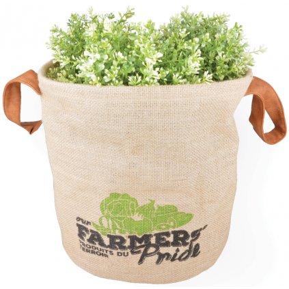 Esschert Design - jutová taška na bylinky Farmers Pride, velká